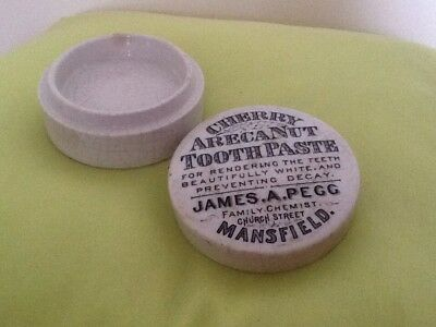 Pot And Lid by James A Pegg Mansfield cherry Areca nut toothpaste