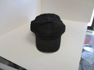 LOT OF 12 NEW VINTAGE-SOLID BLACK  CAPS/HATS-6 PANEL-SNAPBACK-by Mohr's-[12003]