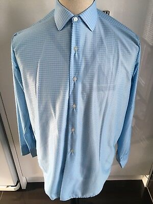 Vintage Rich Vue Bri Nylon Shirt 15 Medium Light Blue 1960s New