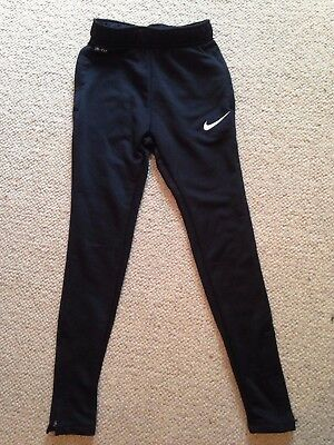 Nike black dry fit boys tracksuit bottoms age 8-10