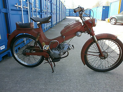 """1959 PUCH BIANCHI """"SPARVIERO"""" 50cc MOPED in  RED"""