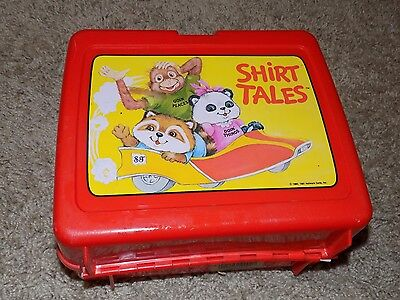 Vintage Shirt Tales Red Plastic Lunch Box No Thermos