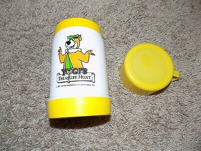 Vintage Yogi's Treasure Hunt Yellow Thermos 1987