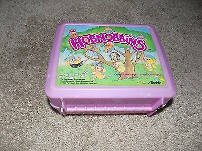 Vintage Plastic Lunch box With Thermos Hobnobbins