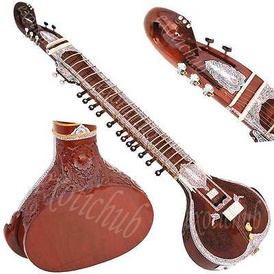 New Surbahar~Swarbahar~Hand Made Indian~Tun Wood~Sitar~Bhajan~Kirtan~Real Image