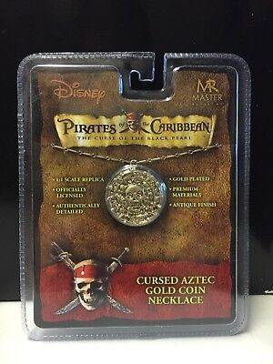 Master Replicas Disney Pirates Of The Caribbean Cursed Aztec Gold Coin Necklace