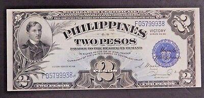 Philippines Unc. 2 Pesos Note, Victory Series NO. 66! AUCTION!