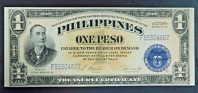 Philippines Unc. 1 Peso Note, Victory Series NO. 66! AUCTION!