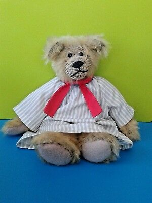 "Russ Fully Jointed 12"" Beanie Bear Colby By Judy Senk"