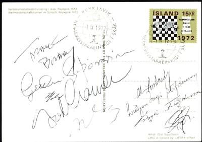 WOOOW what an AUTOGRAPH PIECE Iceland 1972 Chess Championships Ch004