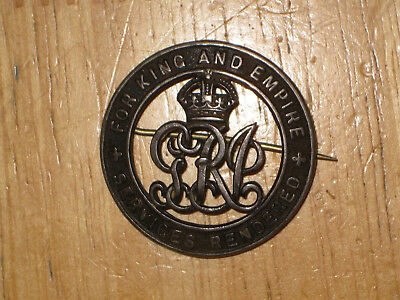 WW1 CEF Canadian War Service Badge Class B Services Rendered C6754