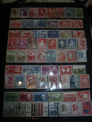 Denmark Stamps Lot 2 X 145 Used Stamps - All Scanned Below The Written Descripti