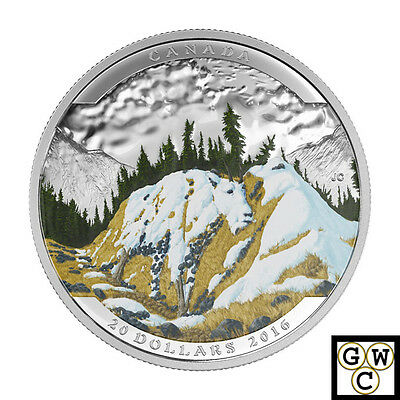 2016'Mountain Goat-Landscape Illusion'Color Prf $20 Silver Coin(17621)(NT)(OOAK)