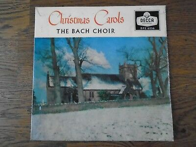 "The Bach Choir Christmas Carols 7"" Decca EP  DFE 6536 vinyl"