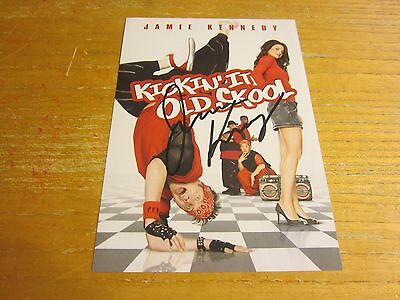 Jamie Kennedy Actor Autographed 5X7.25 DVD Insert Page Kickin' It Old Skool