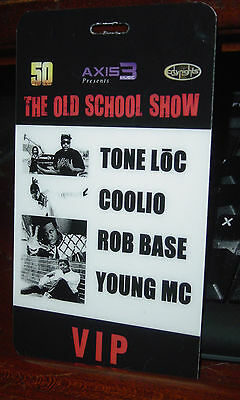 Mint! VIP Pass for TONE LOC Coolio ROB BASE Young MC Old School Show w/Lanyard