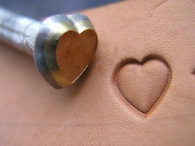 014-06 Middle size Heart 10x10 mm Leather stamp  Saddlery Tool Punch 3D Brass