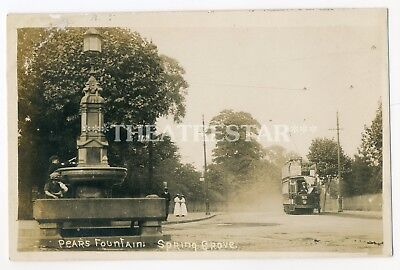 RP ISLEWORTH Spring Grove TRAM No 93 Pears Fountain LONDON Middlesex