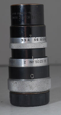 Taylor Hobson Cooke Kinic Anastigmat 2 Inch f3.5 C Mount Lens for 16mm *READ*