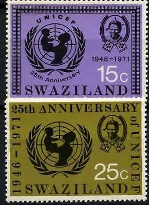 Swaziland 1972 SG#192-3, 25th Anniv Of UNICEF MNH Set #D58679