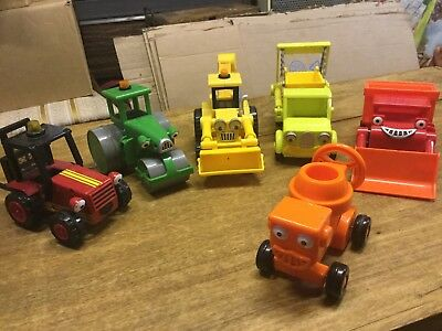 Bob The Builder Vehicles Bundle Job Lot Roller Mixer Skip Digger Fork Truck etc