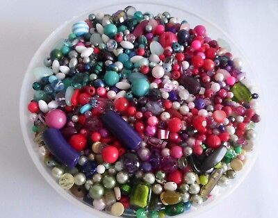 5000 x Mixed Beads Many Vintage Jewellery Making Assorted Colours - Almost 3kg