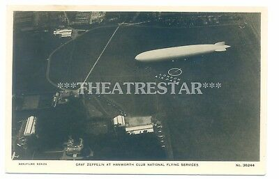 RP AIRPORT Graf Zeppelin LONDON AIR PARK Hanworth Flying Club MIDDLESEX Rare!