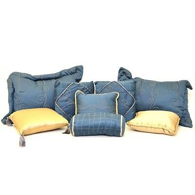 Boat Pillow Set 224124 | Chaparral 310 / 350 Blue / Gold 2005 (8 PC)