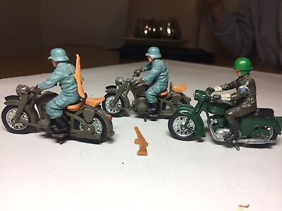 Britains England detail 3 motorcycle and riders