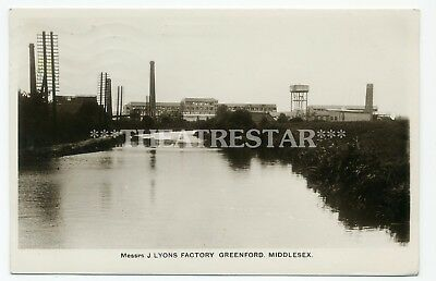 RP GREENFORD J Lyons Teashops FACTORY Industrial CANAL London MIDDLESEX  Rare!