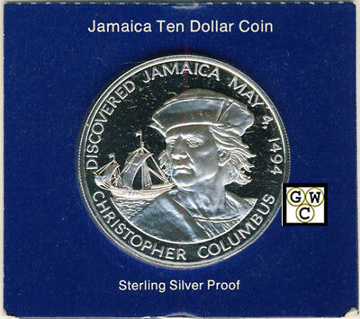 1975 Proof Sterling Silver 10 Dollar Coin Jamaica (OOAK)
