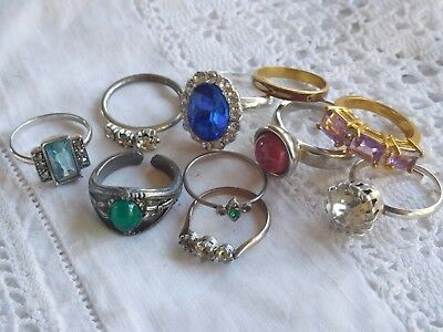 Lovely Collection of Vintage 1950s/60s Costume RINGS