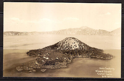 Crater Lake National Park, Oregon, Wizard Island, Patterson Real Photo, #315