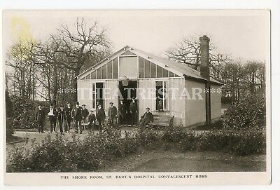 RP Social History BARTS HOSPITAL Smoke Room CONVALESCENT HOME London MIDDLESEX