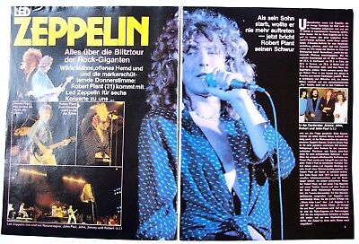 Led Zeppelin Jimmi Page Robert Plant  Rare German Clipping Cutting Pin/up Poster
