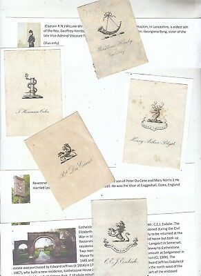 oEx Libris Armorial  Crest Bookplates: FIVE FOR A FIVER.  LOOK!       (2)