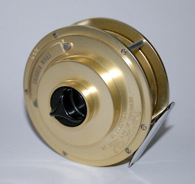 Vintage - Fin-Nor #3 Wedding Cake Fly Reel - Ex Condition With Case