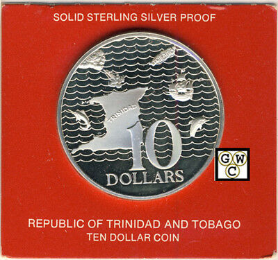 1977 Sterling Silver Proof 10 Dollar Coin Trinidad and Tobago (OOAK)