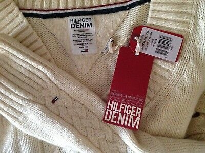 Tommy Hilfiger Denim Ladies Jumper Size M Or 10-12 New With Tag