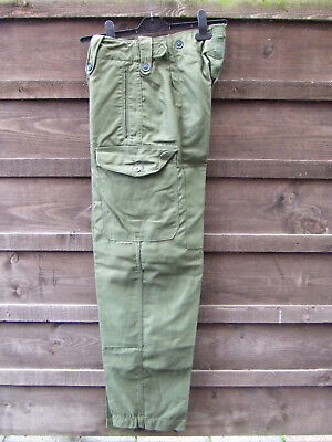 Vintage British Army 1960 pattern olive green combat trousers