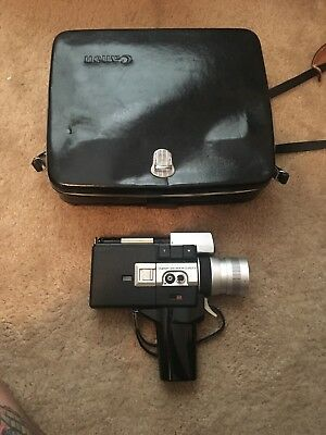 Vintage Canon Auto Zoom 518 Super-8 Movie Camera with Case & Manual~Tested/Works