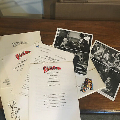 Who Framed Roger Rabbit 1989 Press Kit +photos
