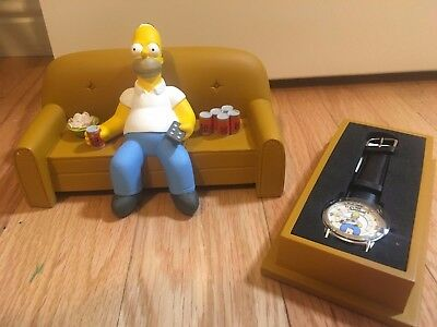 The Simpsons Limited Edition 1998 Homer Watch! Nib! Rare! By Fossil