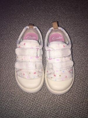 Baby Toddler Girls Clarks Shoes Doodles Size 6.5F