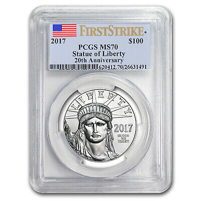 2017 1 oz Platinum American Eagle MS-70 PCGS (First Strike) - SKU #102957