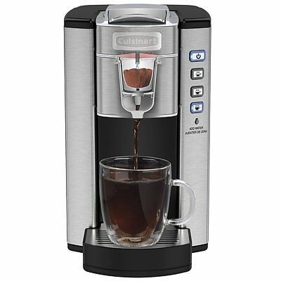 New CUISINART Compact Single Serve Coffeemaker, Stainless Steel
