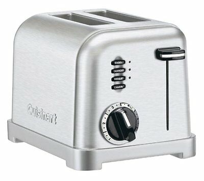 New CUISINART CPT-160 Metal Classic 2-Slice Toaster, Brushed Stainless