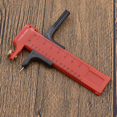 Plastic Compass Circle Cutter Red Hand Tool Adjustable for Leather Paper Rubber
