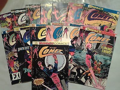 The Comet 1 3 4 5 6 7 8 9 11 12 13 14 15 Annual 1 (1991-2, Impact) 14 issue lot
