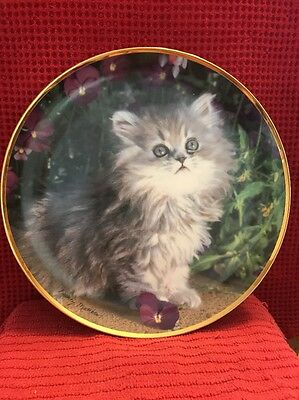 Franklin Mint~ Purrfection ~ Limited Edition ~ By Nancy Matthews #i8866